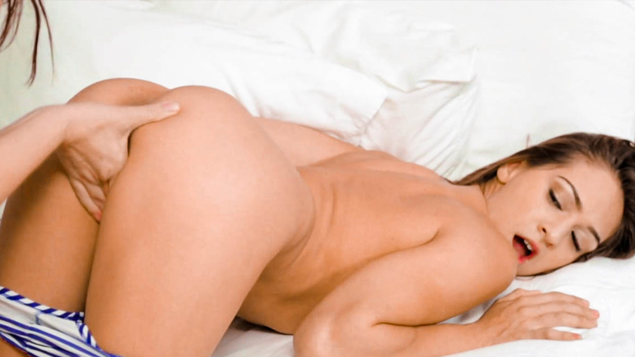 Hotel Room Ass Play For Hot Lesbians