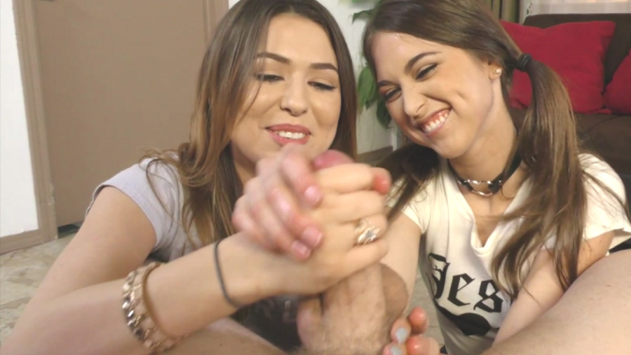 Riley Melissa Sibling Rivalry Step-sister Pov Finish In Each Other's Faces!